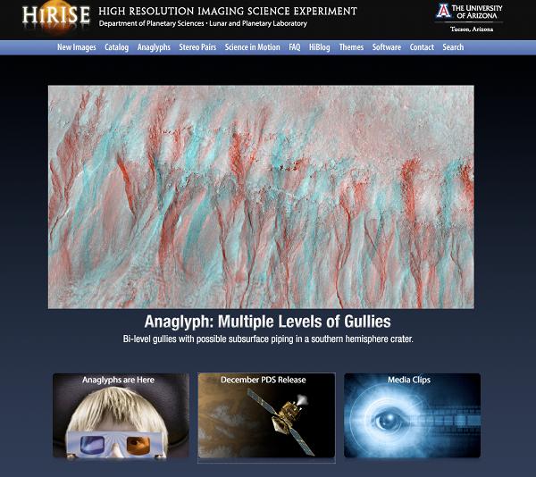 HiRise web site screen shot