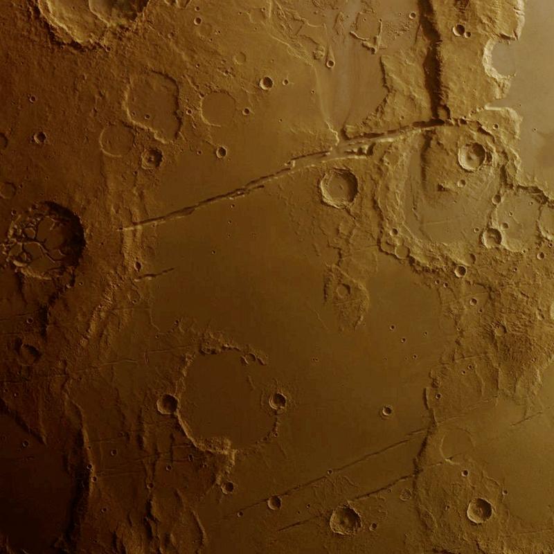 Mangala Fossae region of Mars
