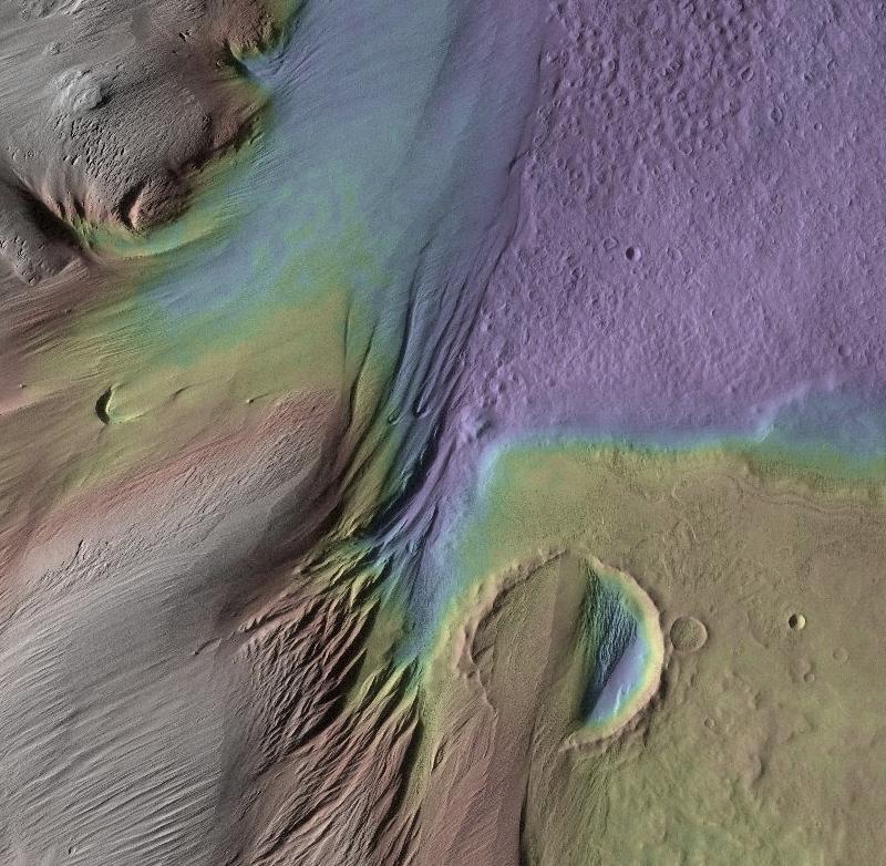 Eumenides Dorsum on Mars