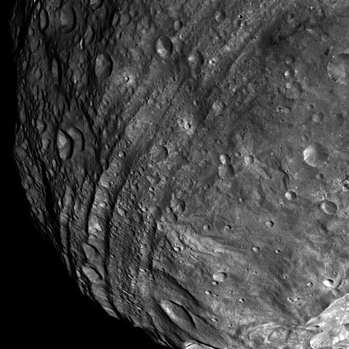asteroid Vesta close-up