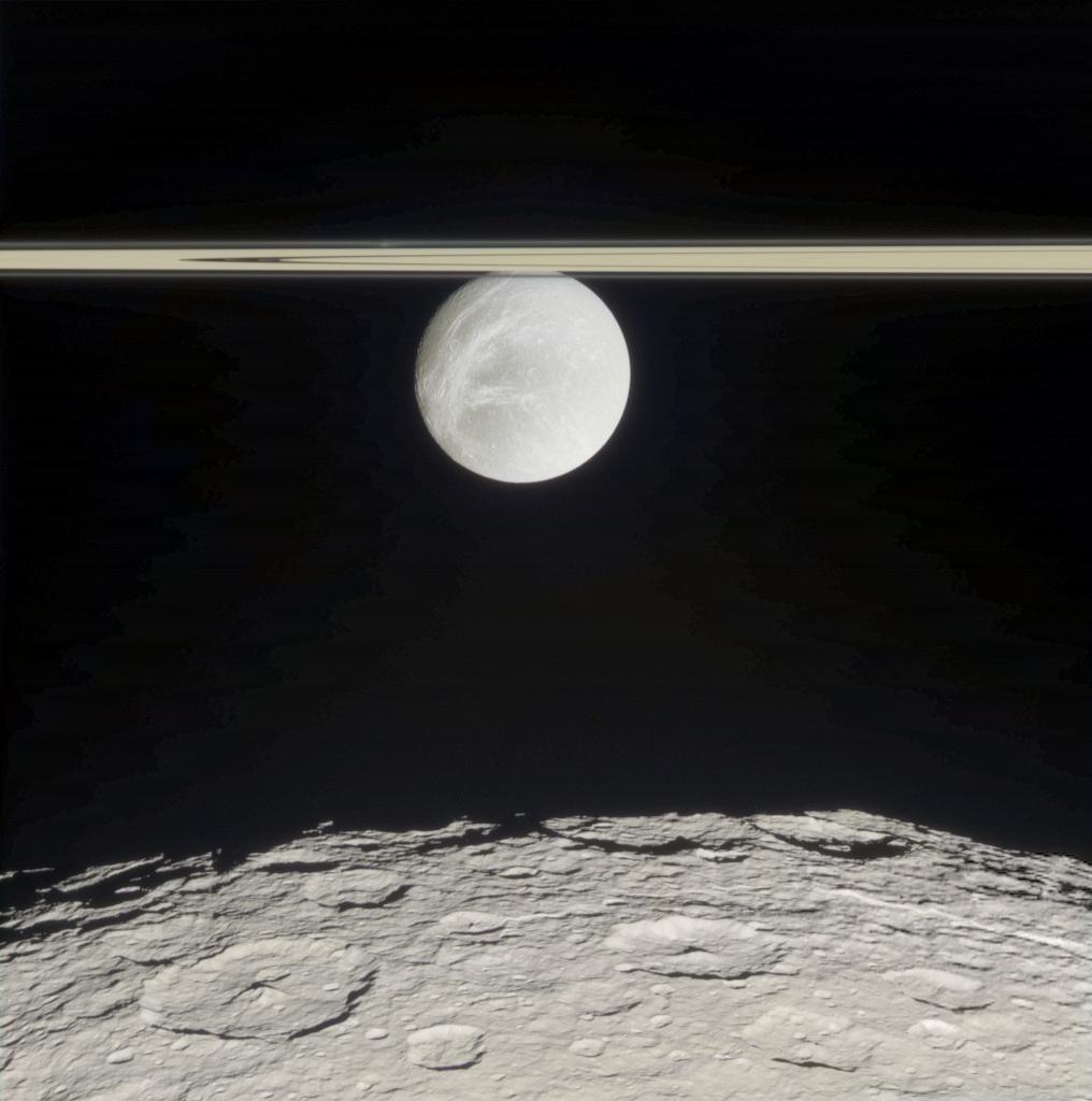 Rhea, Dione, Rings