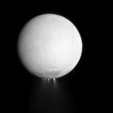 Ice plumes on Saturn's moon Enceladus