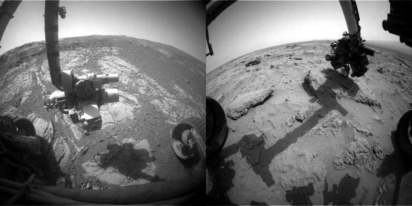 Robotic arms on Mars
