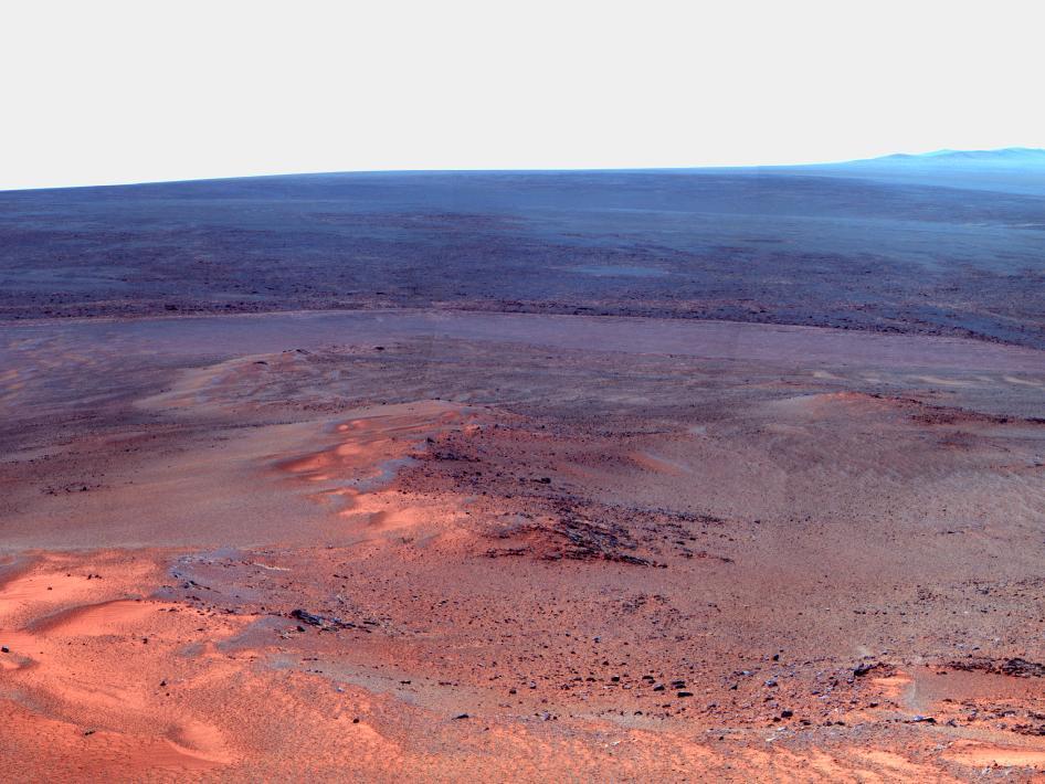 Endeavour crater on Mars. Credit: NASA/JPL-Caltech/Cornell/Arizona State Univ.