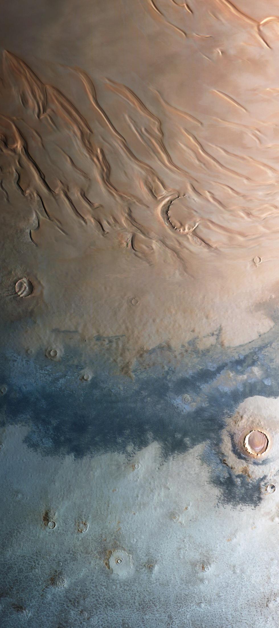 polar region of Mars